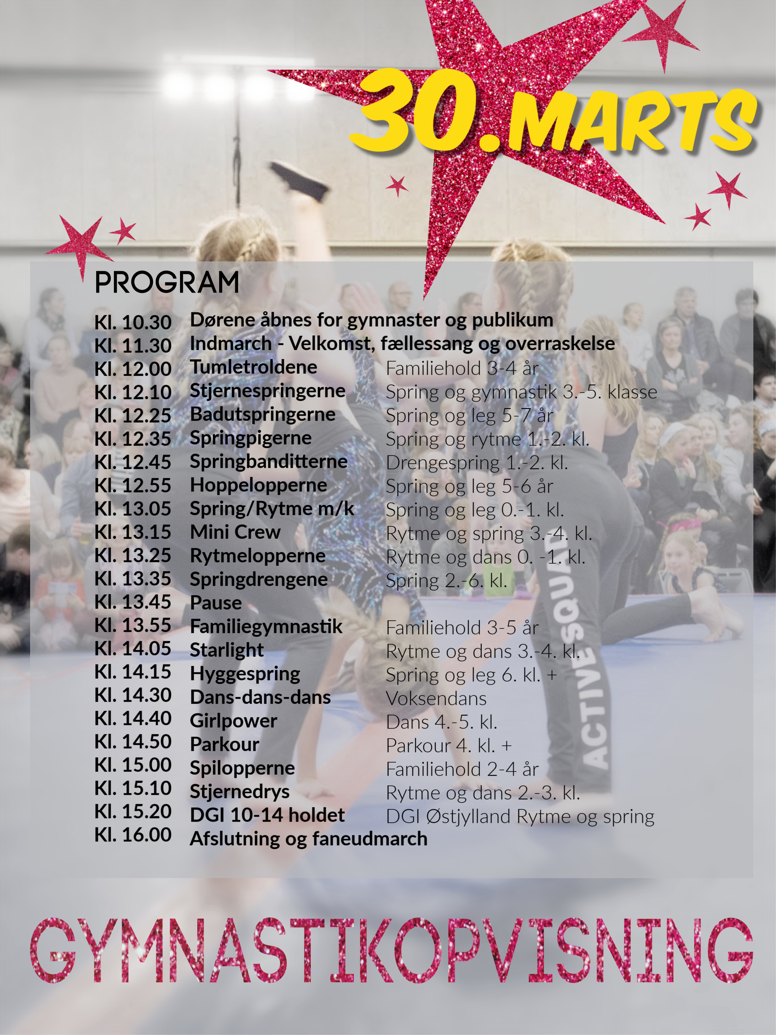 2019 Gymnastikopvisning Program
